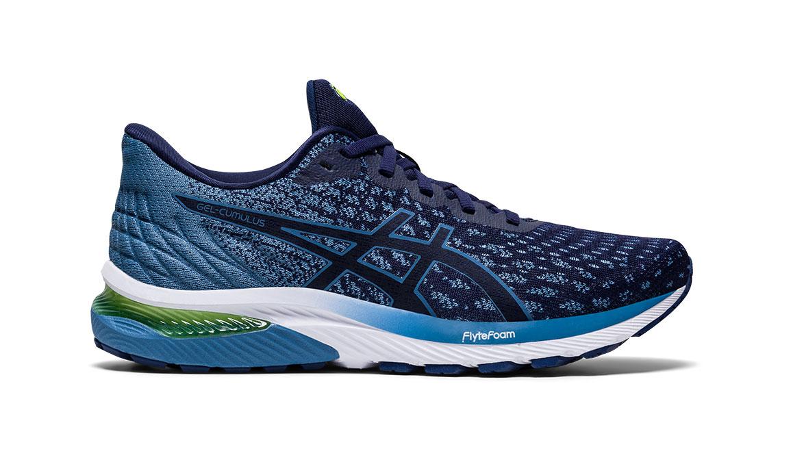Men's Asics GEL-Cumulus 22 MK Running Shoe - Color: Peacoat/Grey (Regular Width) - Size: 8, Blue/Blue, large, image 1