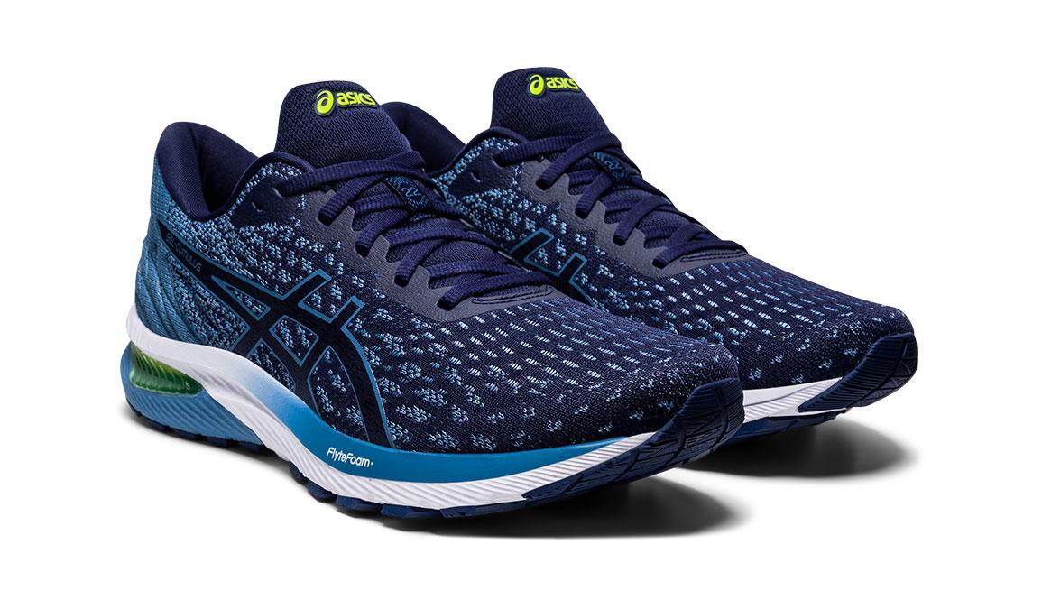 Men's Asics GEL-Cumulus 22 MK Running Shoe - Color: Peacoat/Grey (Regular Width) - Size: 8, Blue/Blue, large, image 2
