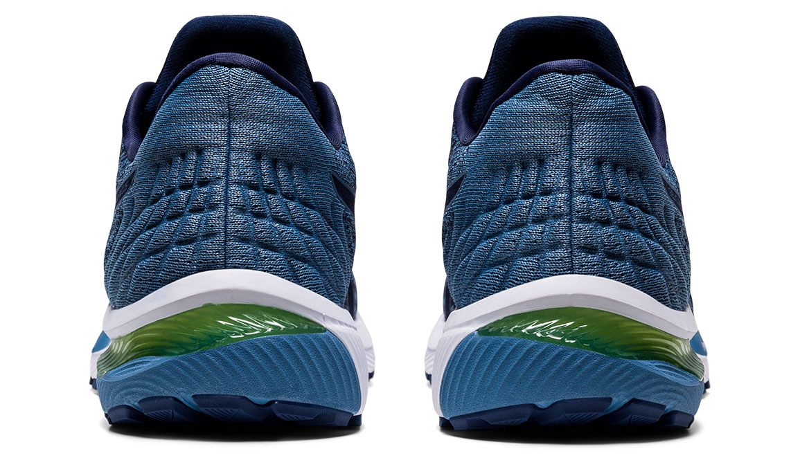 Men's Asics GEL-Cumulus 22 MK Running Shoe - Color: Peacoat/Grey (Regular Width) - Size: 8, Blue/Blue, large, image 4