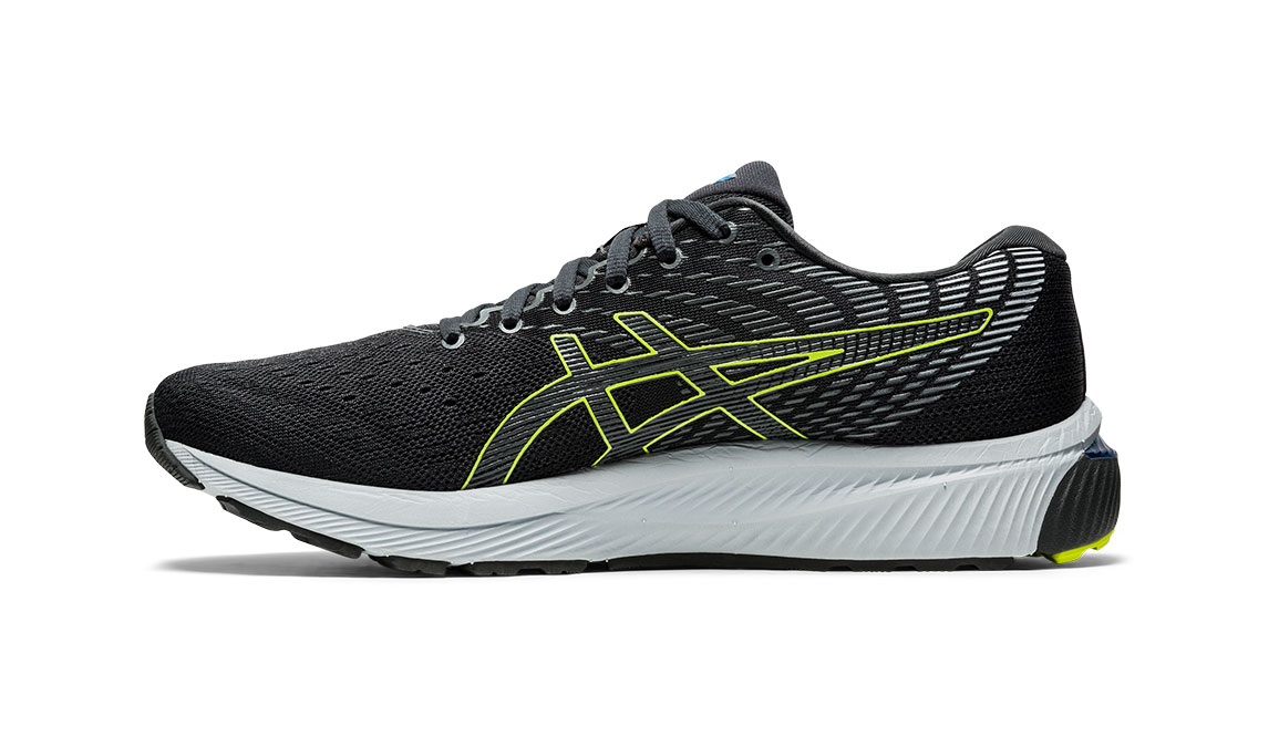 Men's Asics GEL-Cumulus 22 Running Shoe - Color: Graphite Grey/Lime Zest (Regular Width) - Size: 6.5, Grey/Green, large, image 3