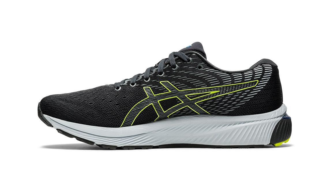 Men's Asics GEL-Cumulus 22 Running Shoe - Color: Graphite Grey/Lime Zest (Regular Width) - Size: 6.5, Grey/Green, large, image 3