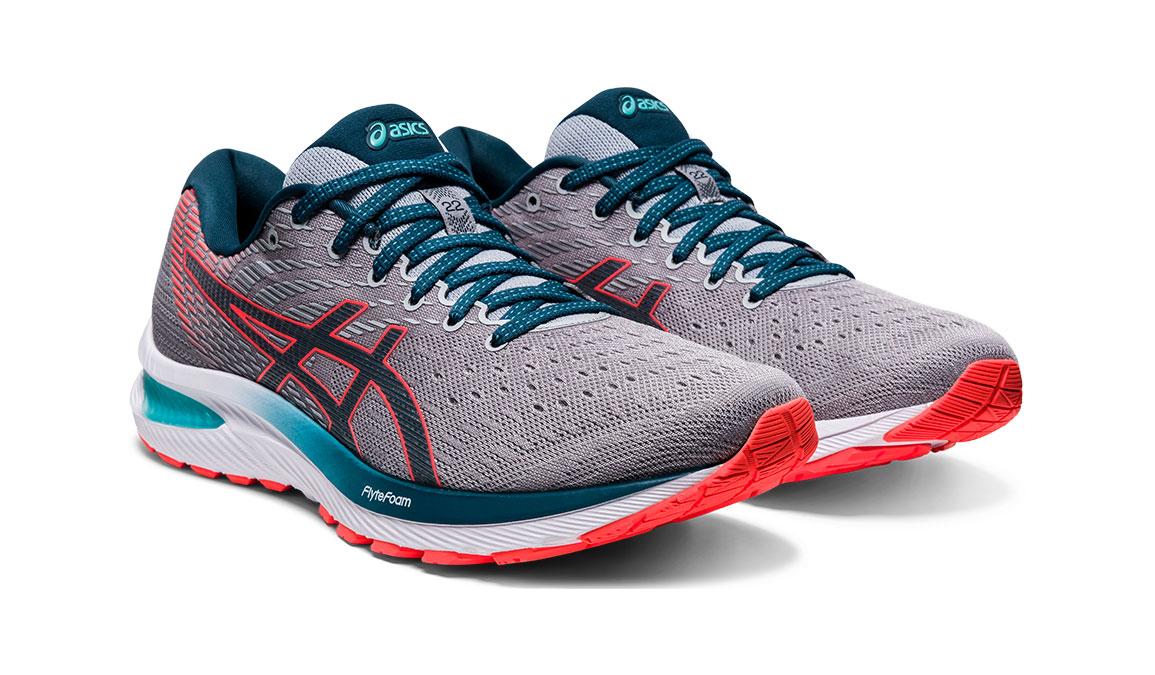 Men's Asics GEL-Cumulus 22 Running Shoe - Color: Piedmont Grey/Magnetic Blue (Regular Width) - Size: 8, Grey/Blue, large, image 2