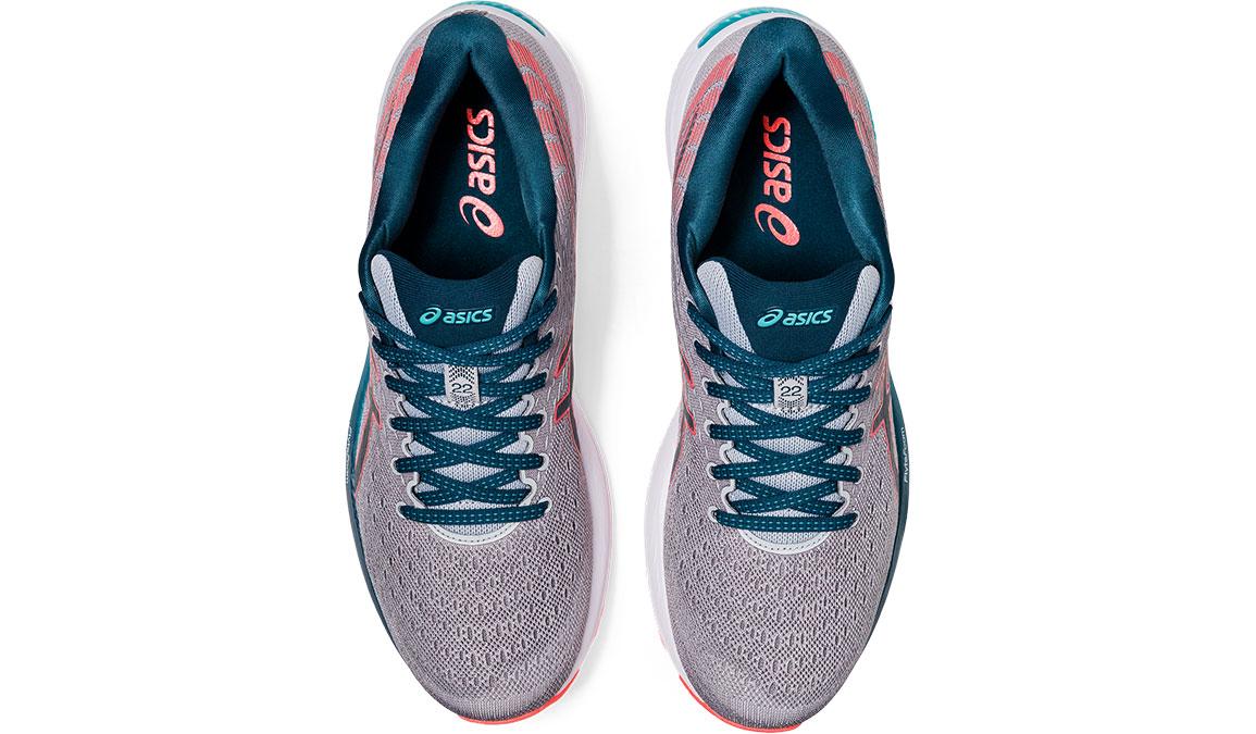 Men's Asics GEL-Cumulus 22 Running Shoe - Color: Piedmont Grey/Magnetic Blue (Regular Width) - Size: 8, Grey/Blue, large, image 4