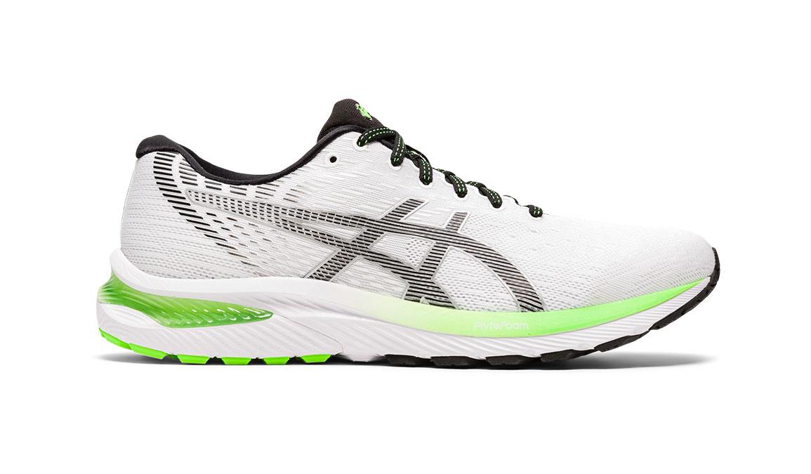 Men's Asics GEL-Cumulus 22 Running Shoe - Color: White/Black (Regular Width) - Size: 8.5, White/Black, large, image 1