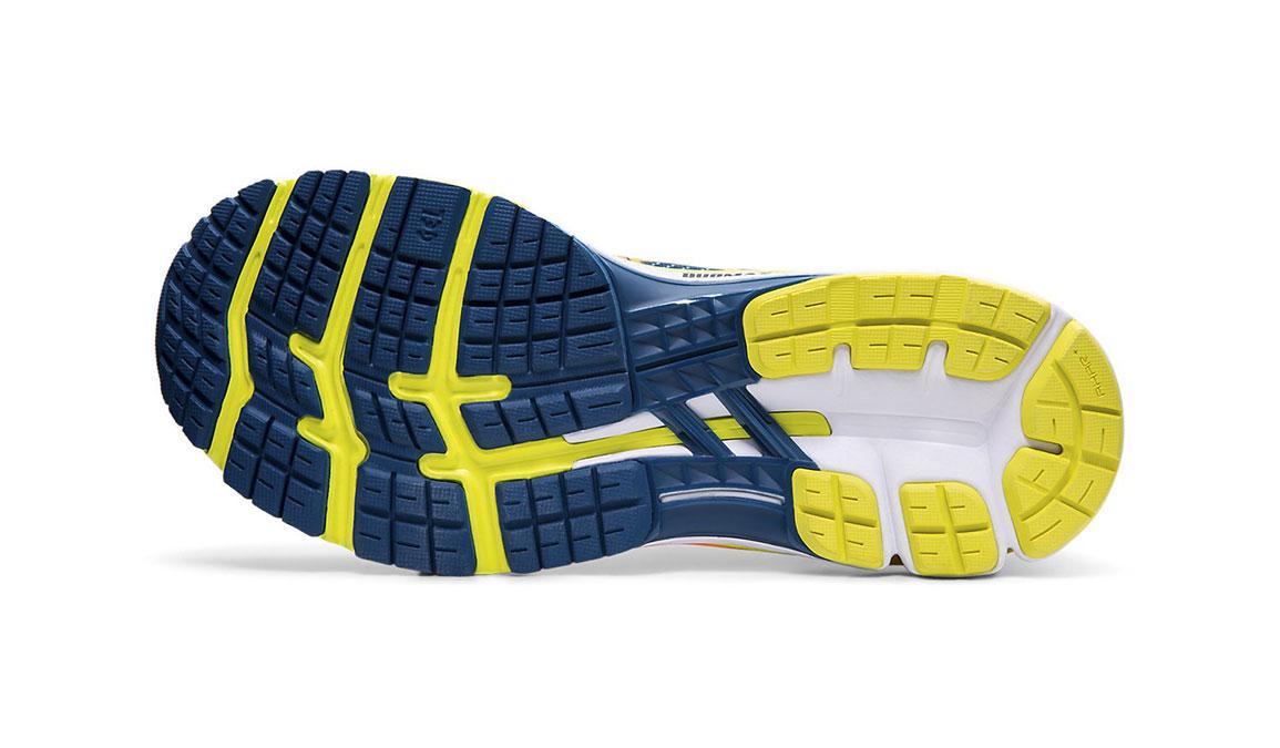Men's Asics GEL-Kayano 26 Arise Running Shoe - Color: Mako Blue/Sour Yuzu (Regular Width) - Size: 8.5, Blue/Yellow, large, image 3
