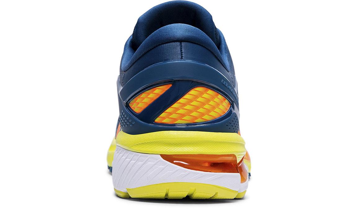 Men's Asics GEL-Kayano 26 Arise Running Shoe - Color: Mako Blue/Sour Yuzu (Regular Width) - Size: 8.5, Blue/Yellow, large, image 4