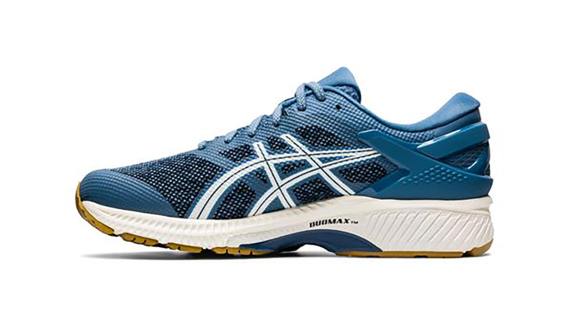Men's Asics Gel-Kayano 26 Mx Running Shoe - Color: Grey Floss/Cream (Regular Width) - Size: 8.5, Blue/White, large, image 2