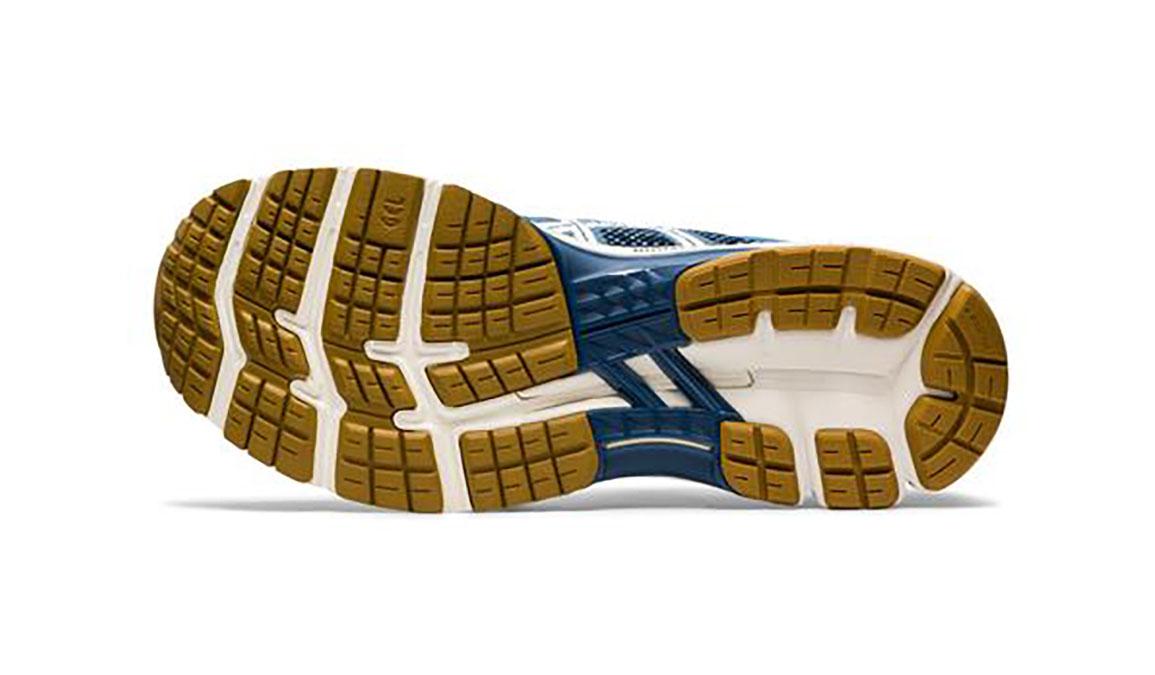 Men's Asics Gel-Kayano 26 Mx Running Shoe - Color: Grey Floss/Cream (Regular Width) - Size: 8.5, Blue/White, large, image 3