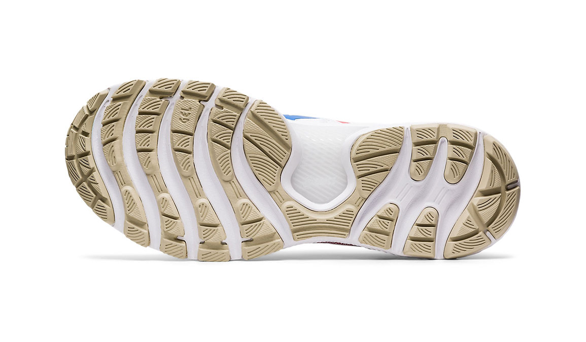 Men's Asics GEL-Nimbus 22 Retro Tokyo Running Shoe - Color: White/Electric Blue (Regular Width) - Size: 9.5, White/Blue, large, image 3