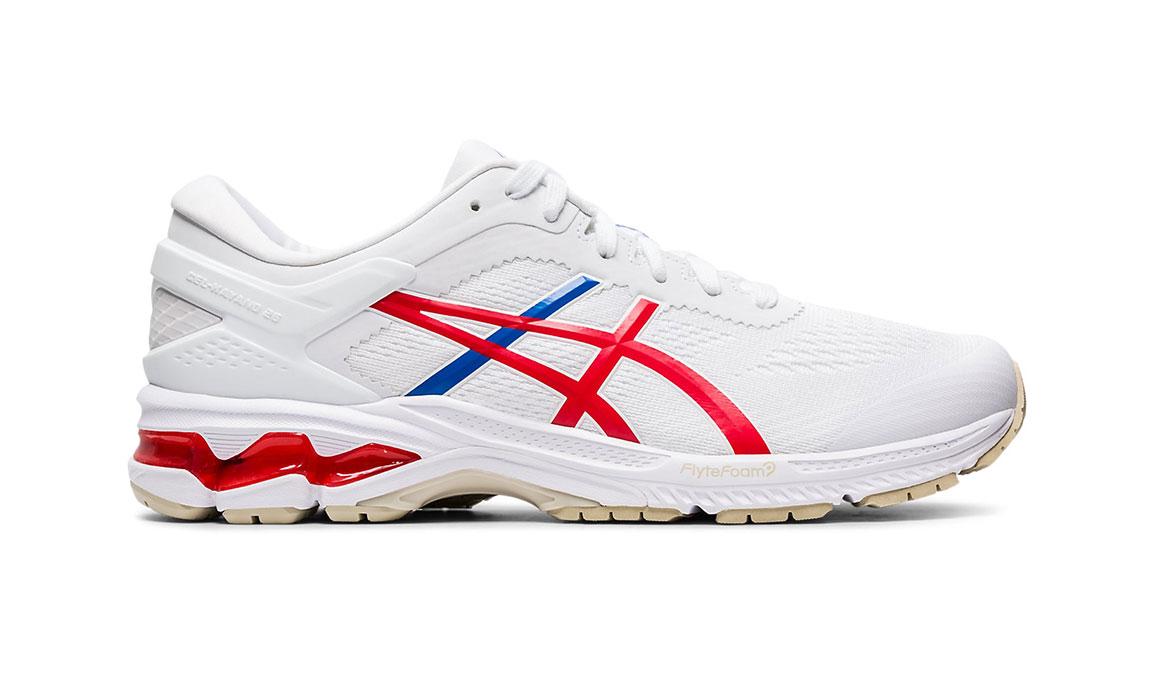 Men's Asics GEL-Kayano 26 Retro Tokyo Running Shoe - Color: White/Red (Regular Width) - Size: 8.5, White/Red, large, image 1