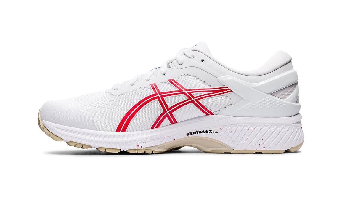 Men's Asics GEL-Kayano 26 Retro Tokyo Running Shoe - Color: White/Red (Regular Width) - Size: 8.5, White/Red, large, image 2