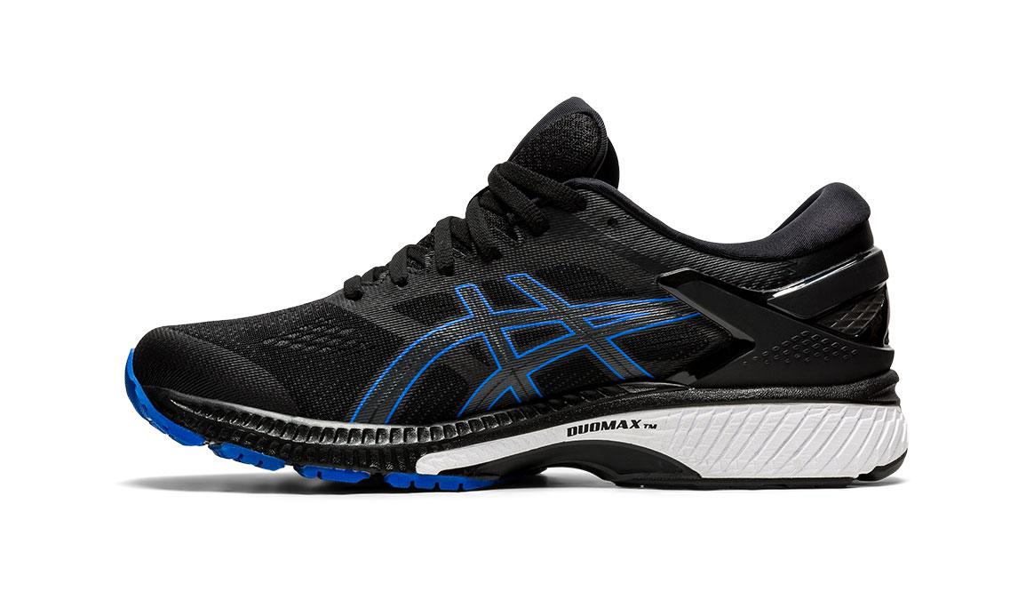 Men's Asics GEL-Kayano 26 Running Shoe - Color: Black/Graphite/Blue (Regular Width) - Size: 10, Black/Blue, large, image 3