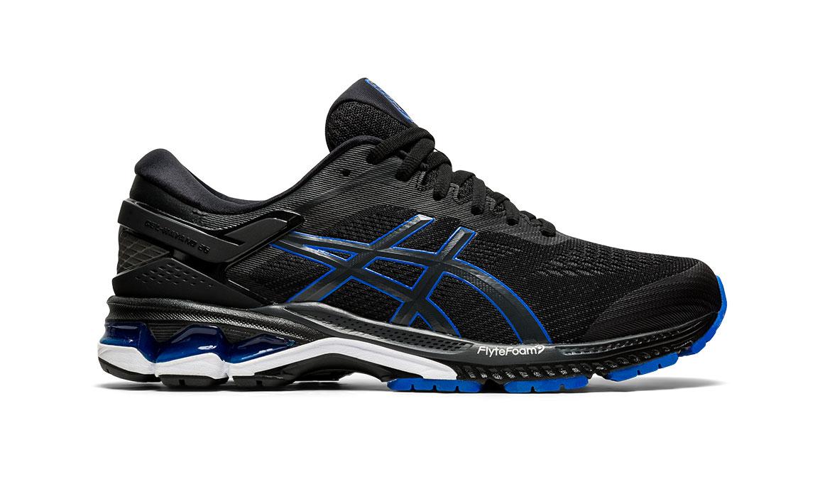 Men's Asics GEL-Kayano 26 Running Shoe - Color: Black/Graphite/Blue (Regular Width) - Size: 10, Black/Blue, large, image 1
