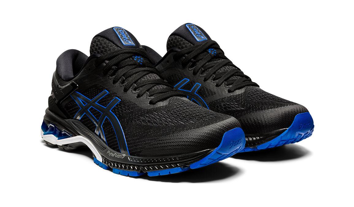 Men's Asics GEL-Kayano 26 Running Shoe - Color: Black/Graphite/Blue (Regular Width) - Size: 10, Black/Blue, large, image 2