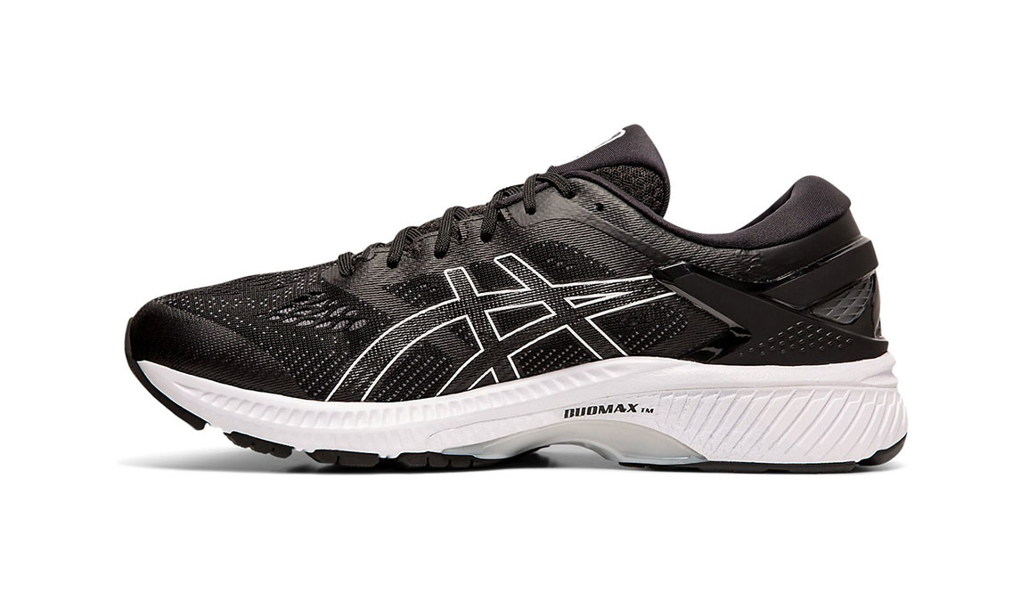 Men's Asics GEL-Kayano 26 Running Shoe - Color: Black/White (Regular Width) - Size: 8.5, Black/White, large, image 2