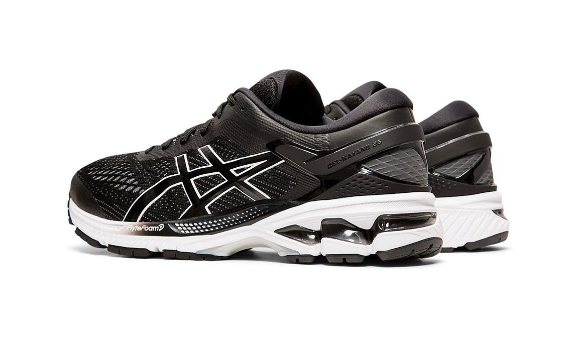 Men's Asics GEL-Kayano 26 Running Shoe - Color: Black/White (Regular Width) - Size: 8.5, Black/White, large, image 6