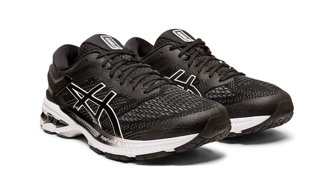 Men's Asics GEL-Kayano 26 Running Shoe - Color: Black/White (Regular Width) - Size: 8.5, Black/White, large, image 7