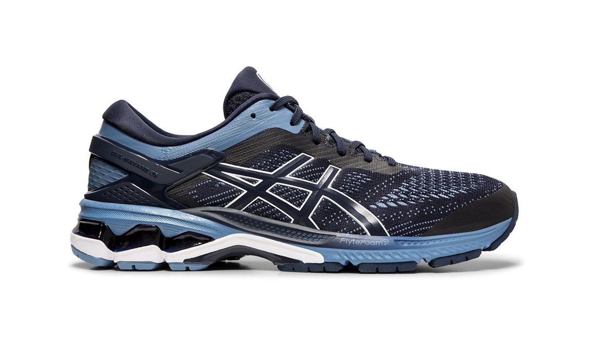 Men's Asics GEL-Kayano 26 Running Shoe - Color: Midnight/Grey (Regular Width) - Size: 6, Midnight, large, image 1