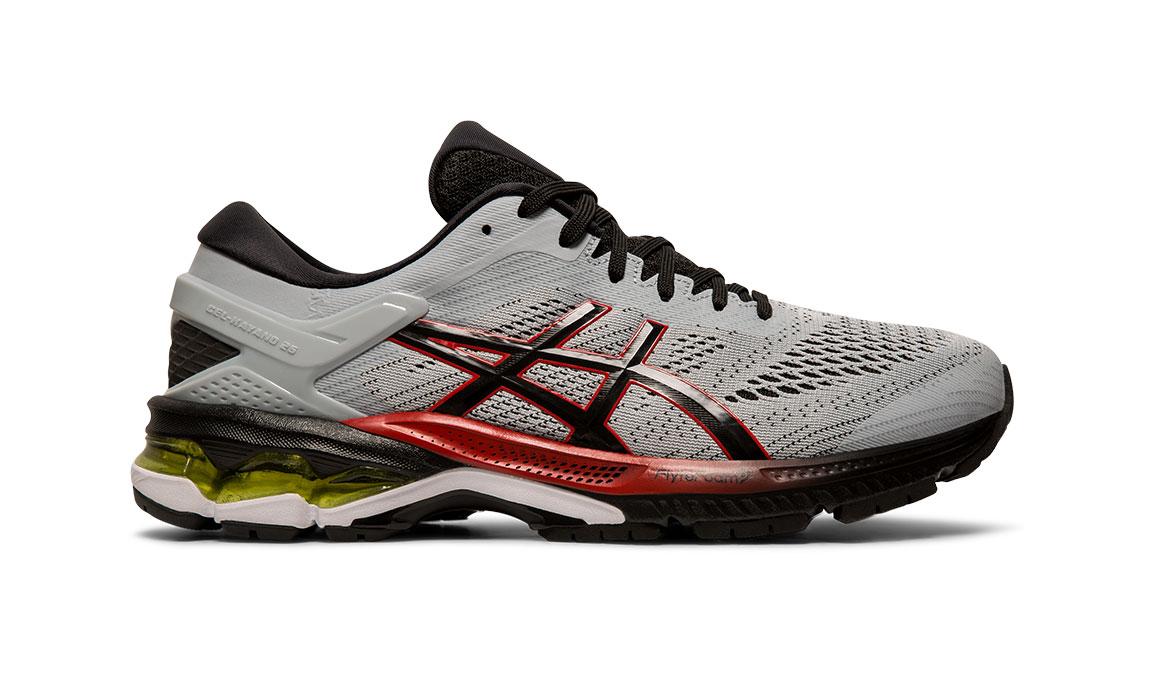 Men's Asics GEL-Kayano 26 Running Shoe - Color: Piedmont Grey/Black (Regular Width) - Size: 8, Grey/Black, large, image 1