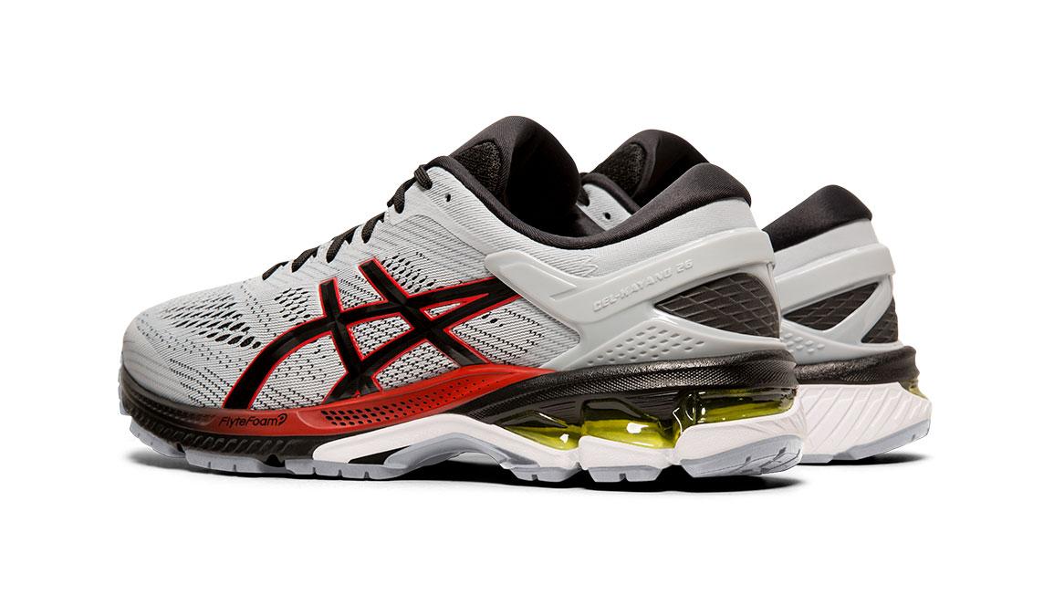 Men's Asics GEL-Kayano 26 Running Shoe - Color: Piedmont Grey/Black (Regular Width) - Size: 8, Grey/Black, large, image 6
