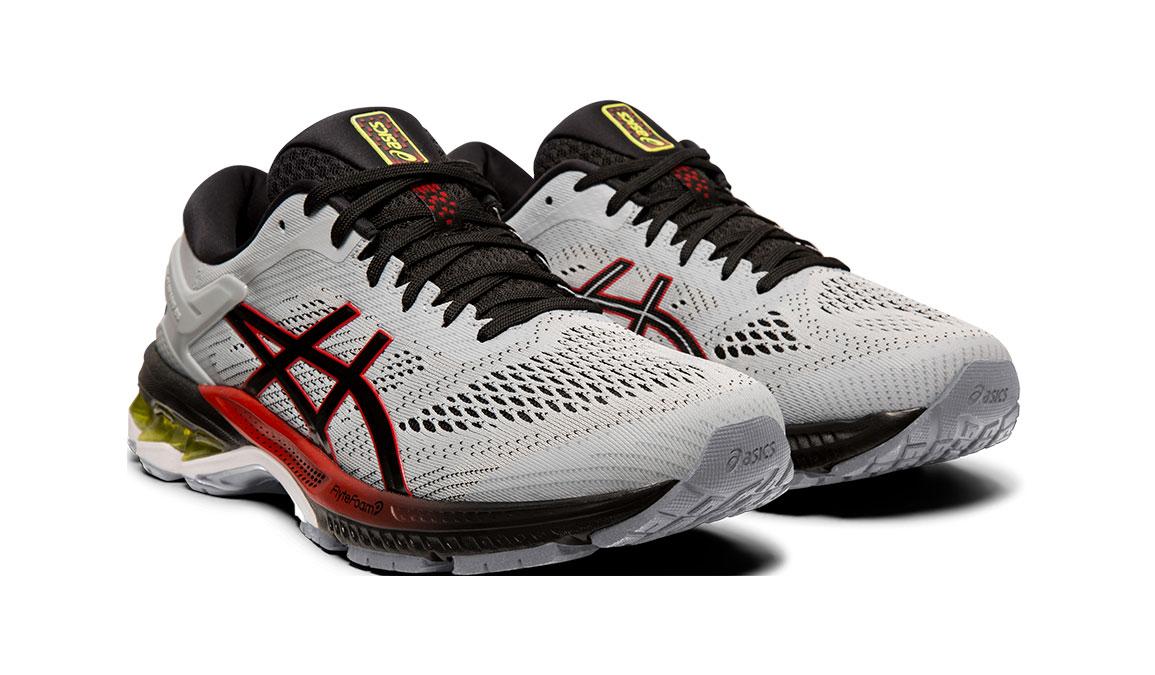 Men's Asics GEL-Kayano 26 Running Shoe - Color: Piedmont Grey/Black (Regular Width) - Size: 8, Grey/Black, large, image 7