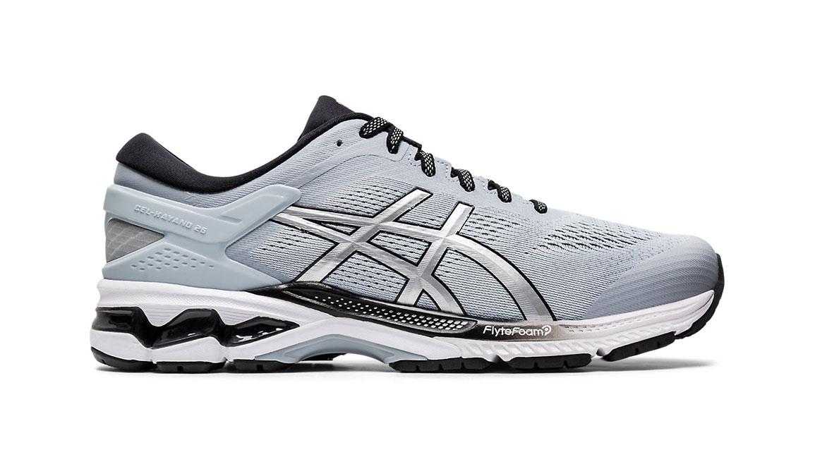 Men's Asics GEL-Kayano 26 Running Shoe - Color: Piedmont Grey/Pure Silver (Regular Width) - Size: 8, Platinum, large, image 1