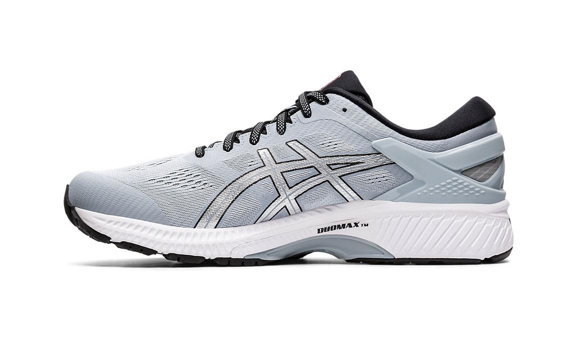 Men's Asics GEL-Kayano 26 Running Shoe - Color: Piedmont Grey/Pure Silver (Regular Width) - Size: 8, Platinum, large, image 2