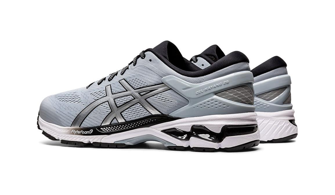 Men's Asics GEL-Kayano 26 Running Shoe - Color: Piedmont Grey/Pure Silver (Regular Width) - Size: 8, Platinum, large, image 6