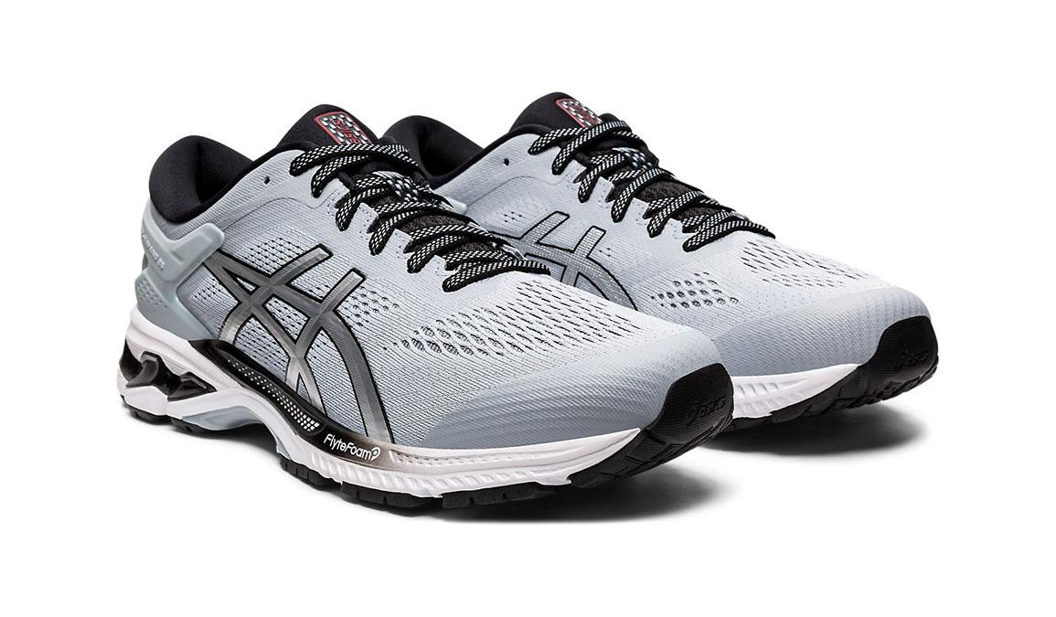 Men's Asics GEL-Kayano 26 Running Shoe - Color: Piedmont Grey/Pure Silver (Regular Width) - Size: 8, Platinum, large, image 7