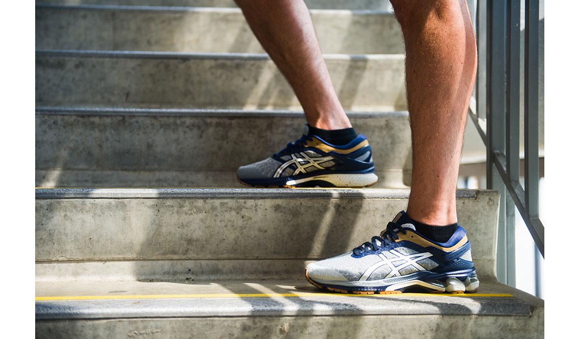 Men's Asics GEL-Kayano 26 Running Shoe - Color: Urban Explorer (Regular Width) - Size: 6, Glacier, large, image 2
