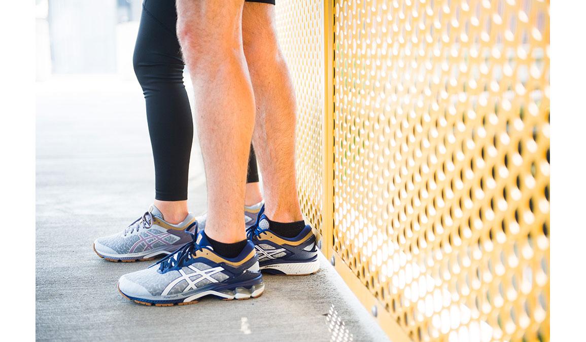 Men's Asics GEL-Kayano 26 Running Shoe - Color: Urban Explorer (Regular Width) - Size: 6, Glacier, large, image 3