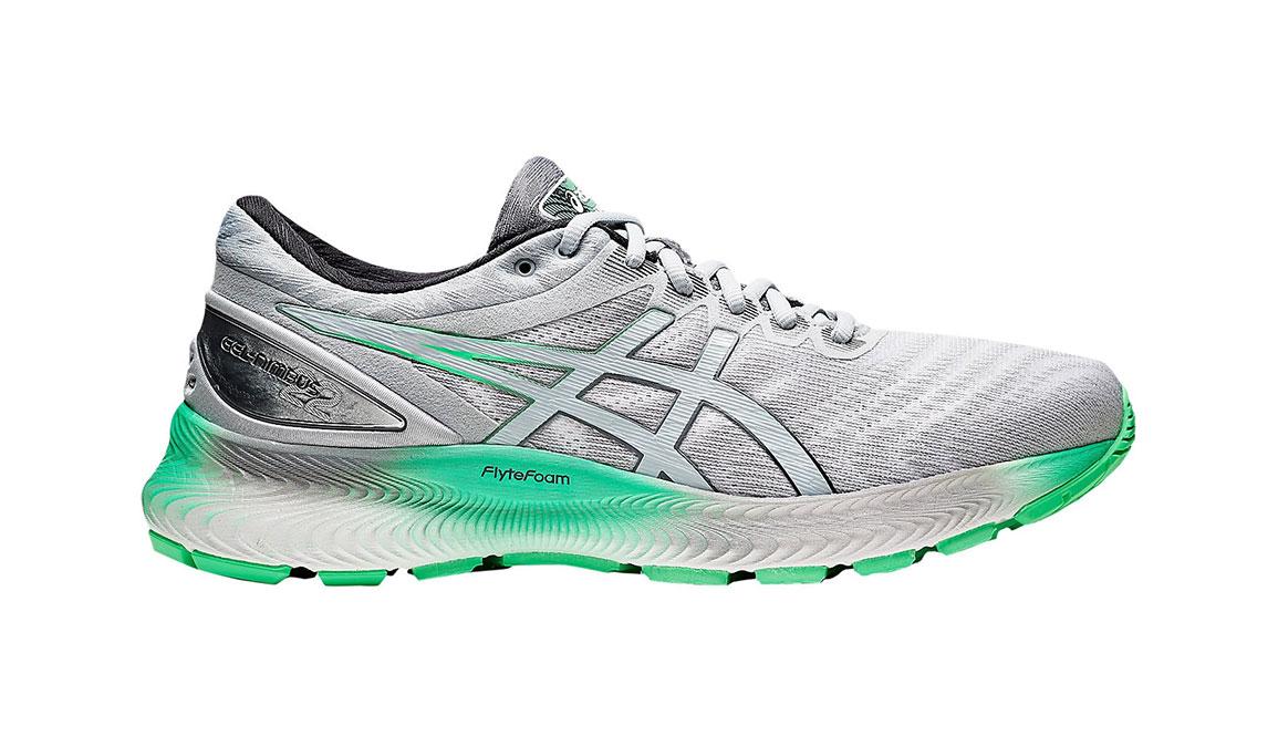 Men's Asics GEL-Nimbus Lite Running Shoe - Color: Piedmont Grey/Green (Regular Width) - Size: 8.5, Grey/Green, large, image 1