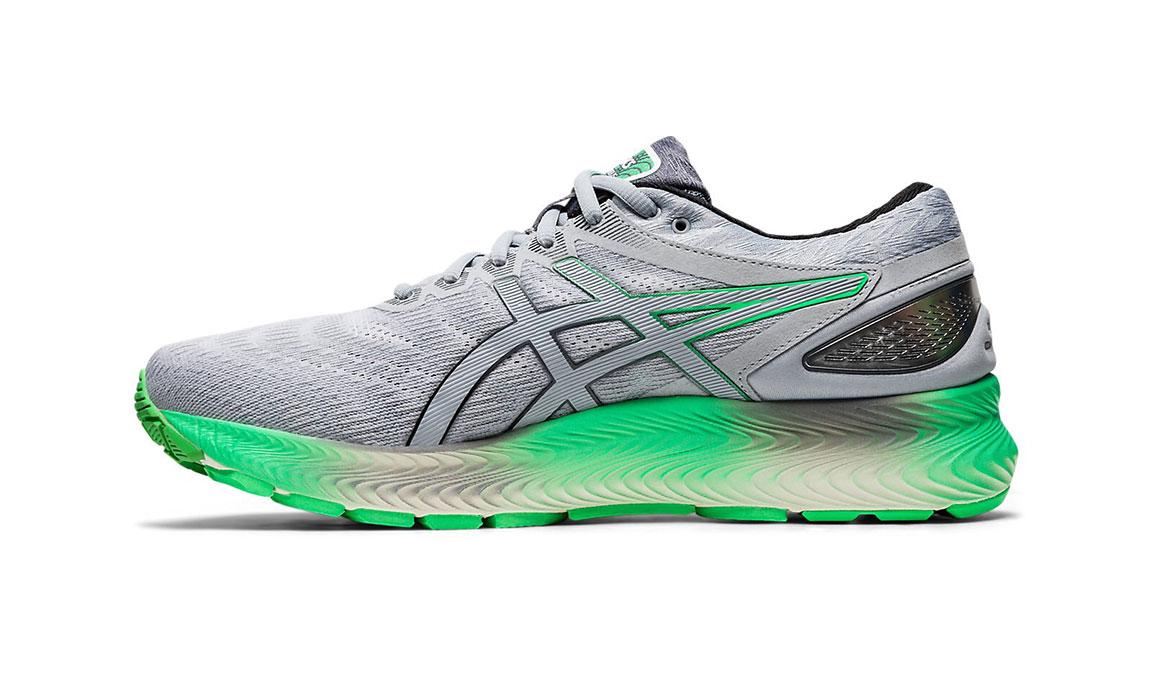 Men's Asics GEL-Nimbus Lite Running Shoe - Color: Piedmont Grey/Green (Regular Width) - Size: 8.5, Grey/Green, large, image 2