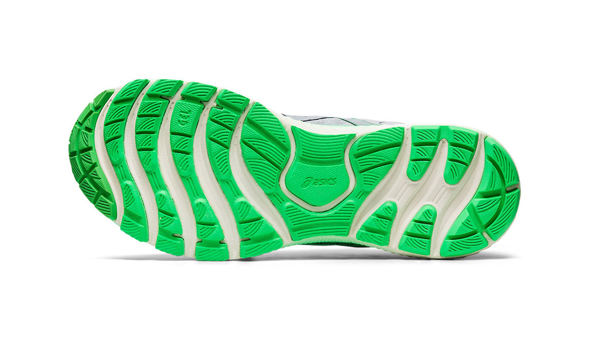Men's Asics GEL-Nimbus Lite Running Shoe - Color: Piedmont Grey/Green (Regular Width) - Size: 8.5, Grey/Green, large, image 3