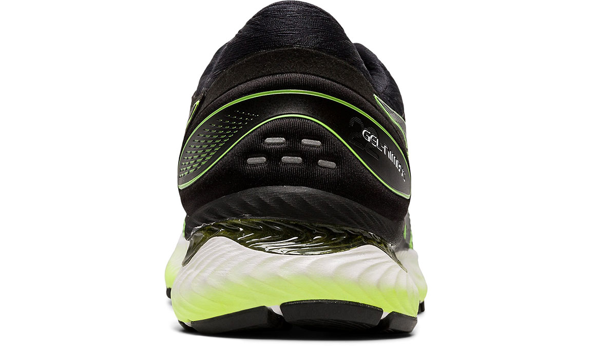 Men's Asics GEL-Nimbus 22 Running Shoe - Color: Safety Yellow/Black (Regular Width) - Size: 8.5, Yellow/Black, large, image 2