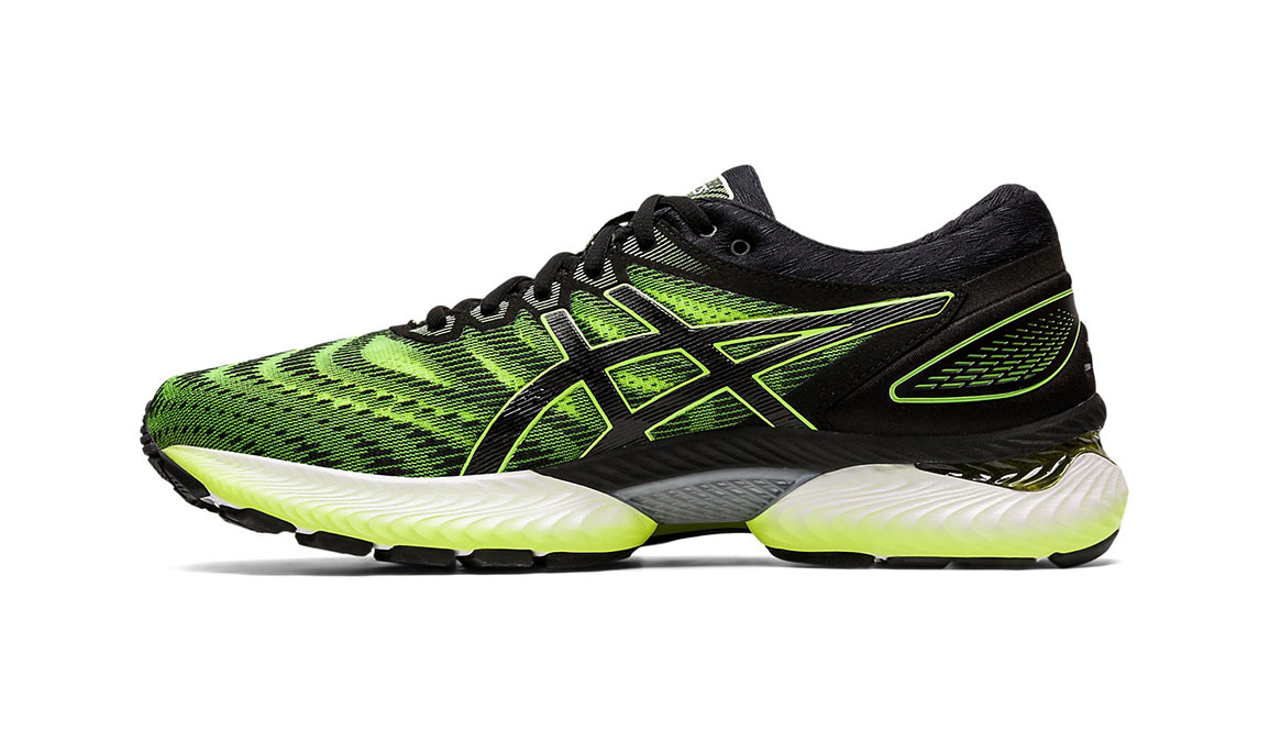 Men's Asics GEL-Nimbus 22 Running Shoe - Color: Safety Yellow/Black (Regular Width) - Size: 8.5, Yellow/Black, large, image 3