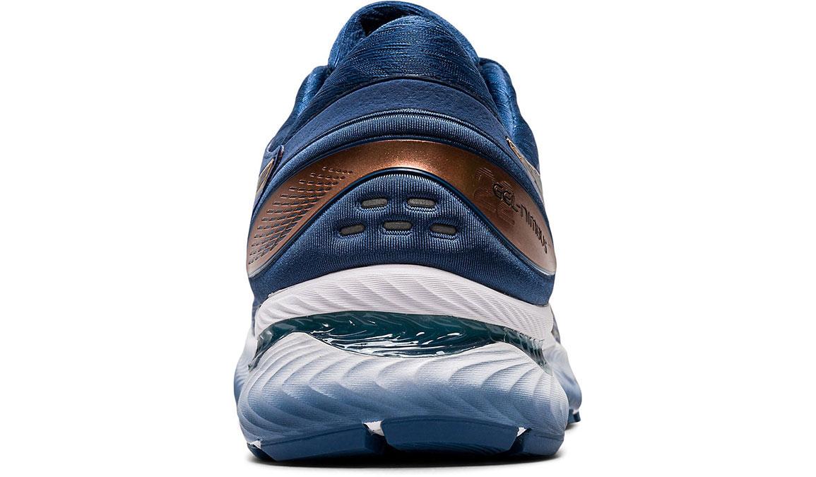 Men's Asics GEL-Nimbus 22 Running Shoe - Color: Sheet Rock/Graphite (Regular Width) - Size: 8, Blue/Grey, large, image 4
