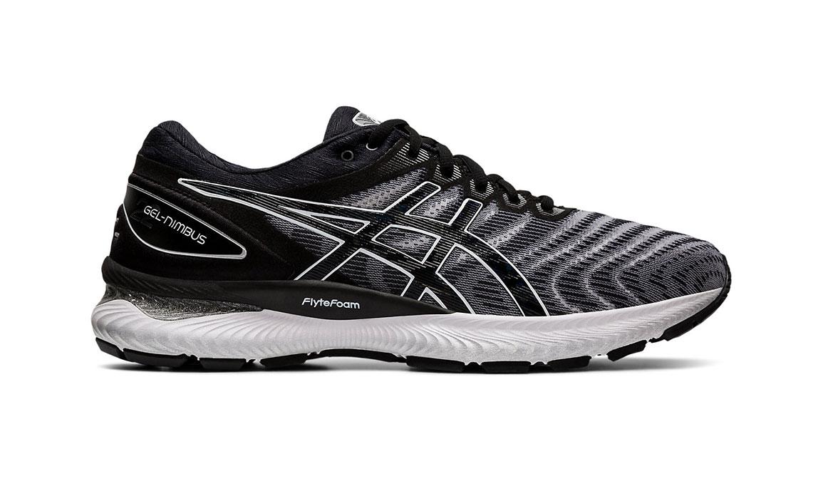 Men's Asics GEL-Nimbus 22 Running Shoe - Color: White/Black (Regular Width) - Size: 8.5, White/Black, large, image 1