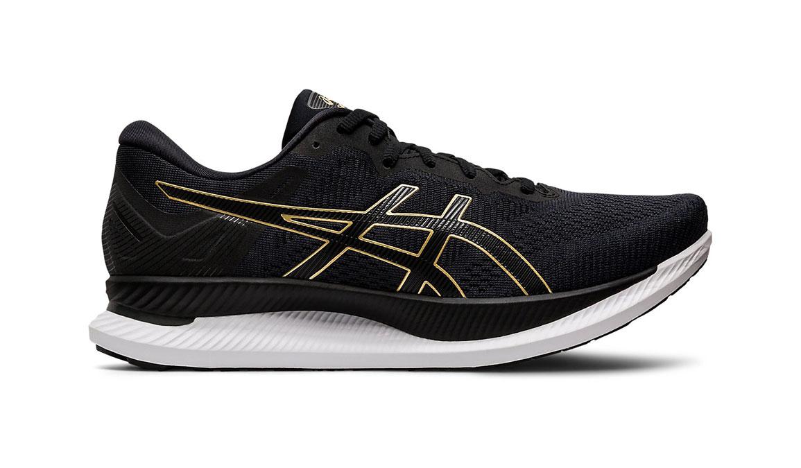 Men's Asics GlideRide Running Shoe - Color: Black/Pure Gold (Regular Width) - Size: 7, Black/Gold, large, image 1