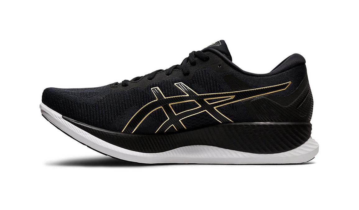 Men's Asics GlideRide Running Shoe - Color: Black/Pure Gold (Regular Width) - Size: 7, Black/Gold, large, image 2
