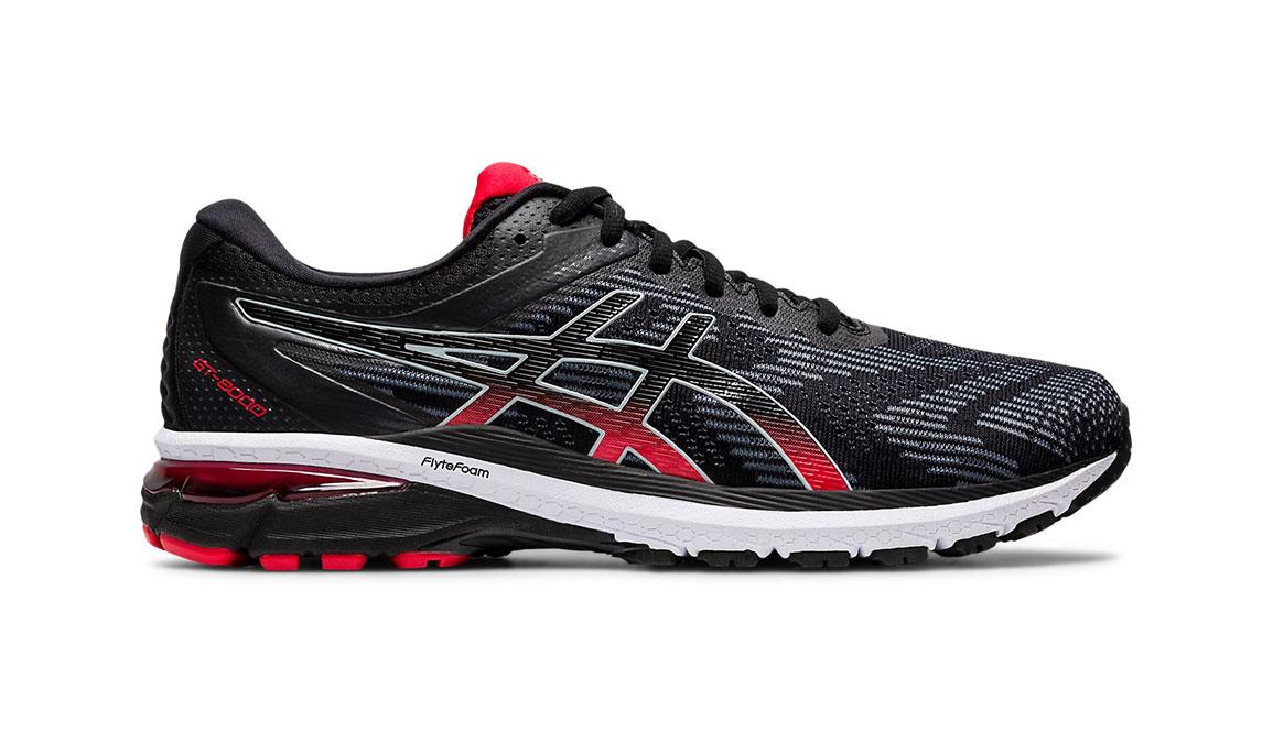 Men's Asics GT-2000 8 Running Shoe - Color: Black/Sheet Rock (Regular Width) - Size: 6, Black/Red, large, image 1