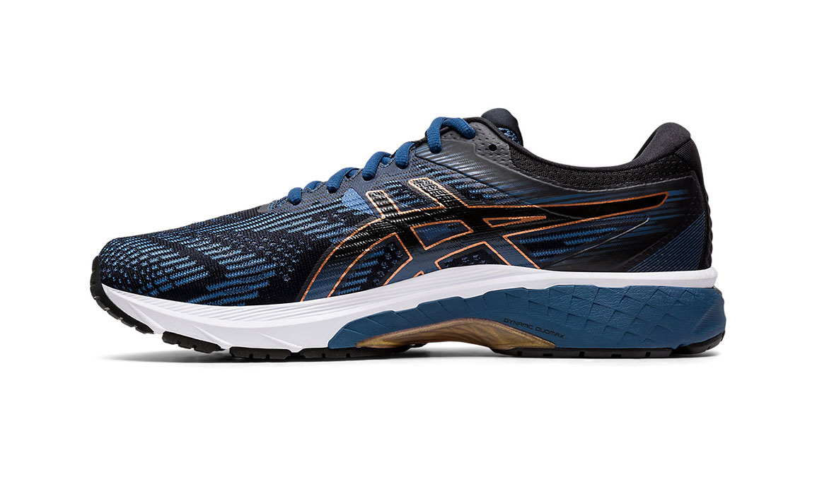 Men's Asics GT-2000 8 Running Shoe - Color: Grand Shark/Black (Regular Width) - Size: 8.5, Blue/Black, large, image 2