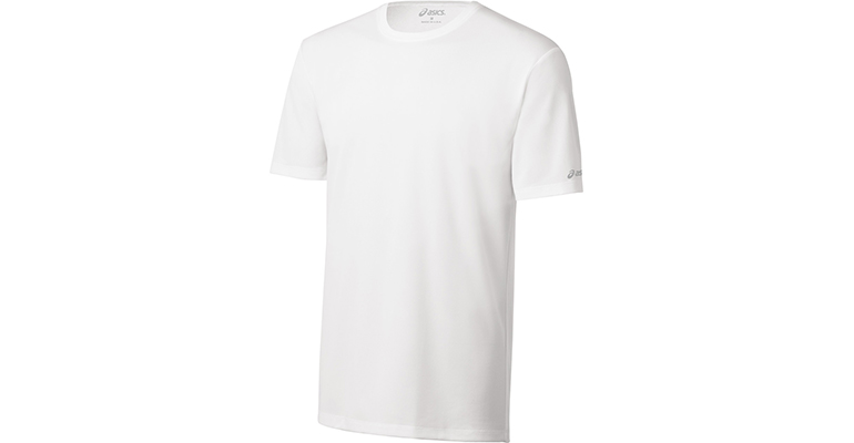 Men's Asics Ready Set Short Sleeve Shirt - Color: White - Size: L, White, large, image 1