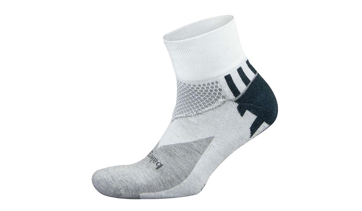 Men's Balega Enduro V-Tech Quarter Socks - Color: White/Mid Grey Size: M, White/Grey, large, image 1