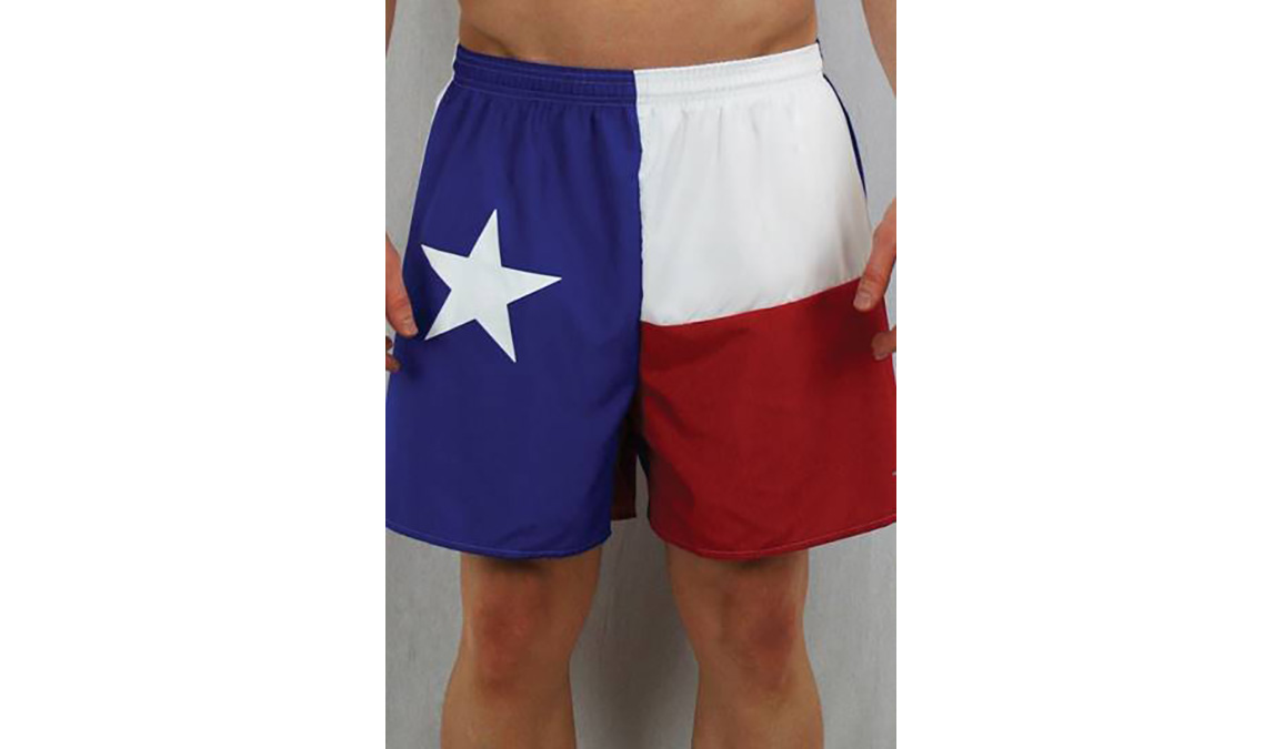 "Men's Texas Flag 5.5"" V-Notch Shorts - Color: Texas Flag - Size: S, Multi, large, image 1"
