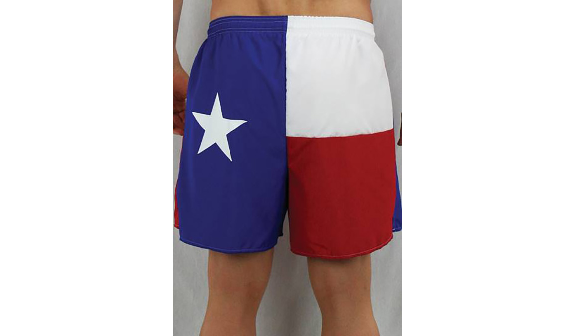 "Men's Texas Flag 5.5"" V-Notch Shorts - Color: Texas Flag - Size: S, Multi, large, image 2"
