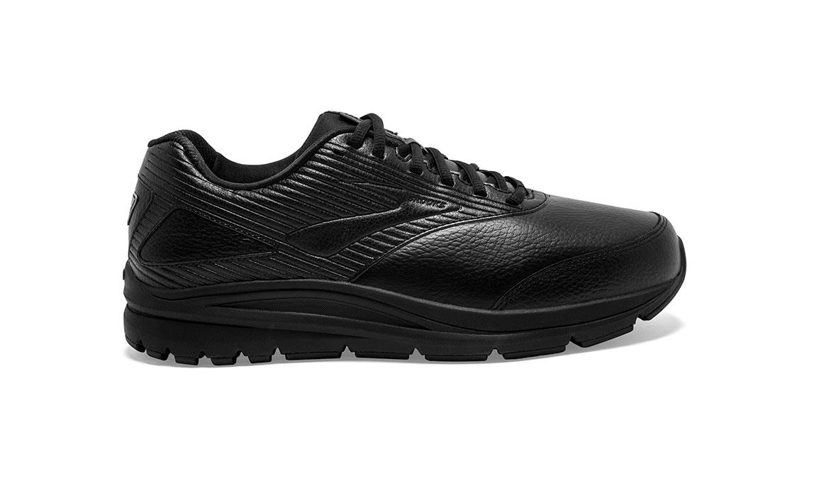 Men's Brooks Addiction Walker 2 Walking Shoe - Color: Black/Black (Wide Width) - Size: 9, Black, large, image 1