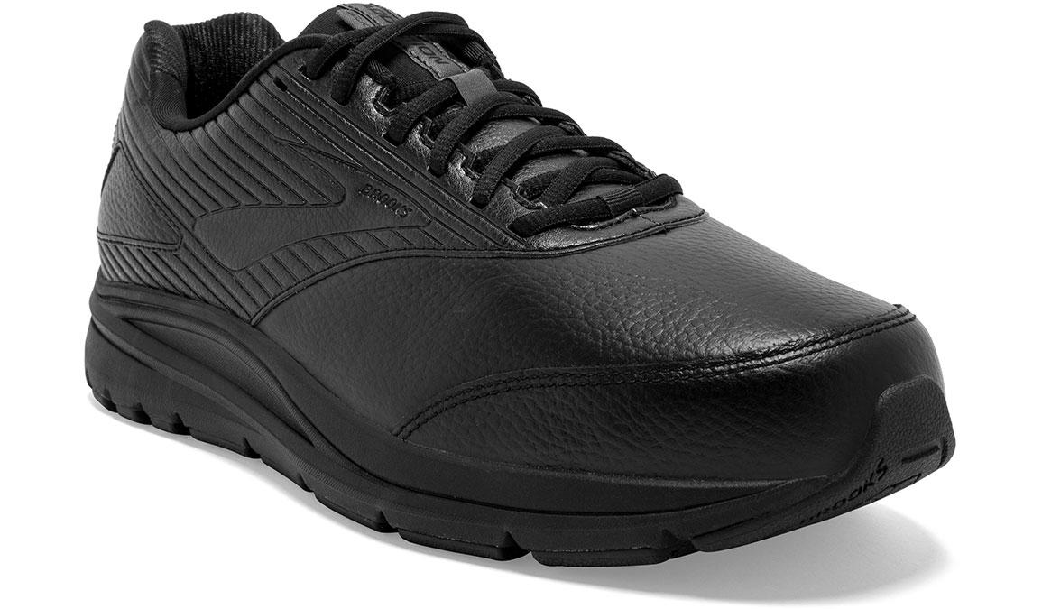 Men's Brooks Addiction Walker 2 Walking Shoe - Color: Black/Black (Wide Width) - Size: 9, Black, large, image 2