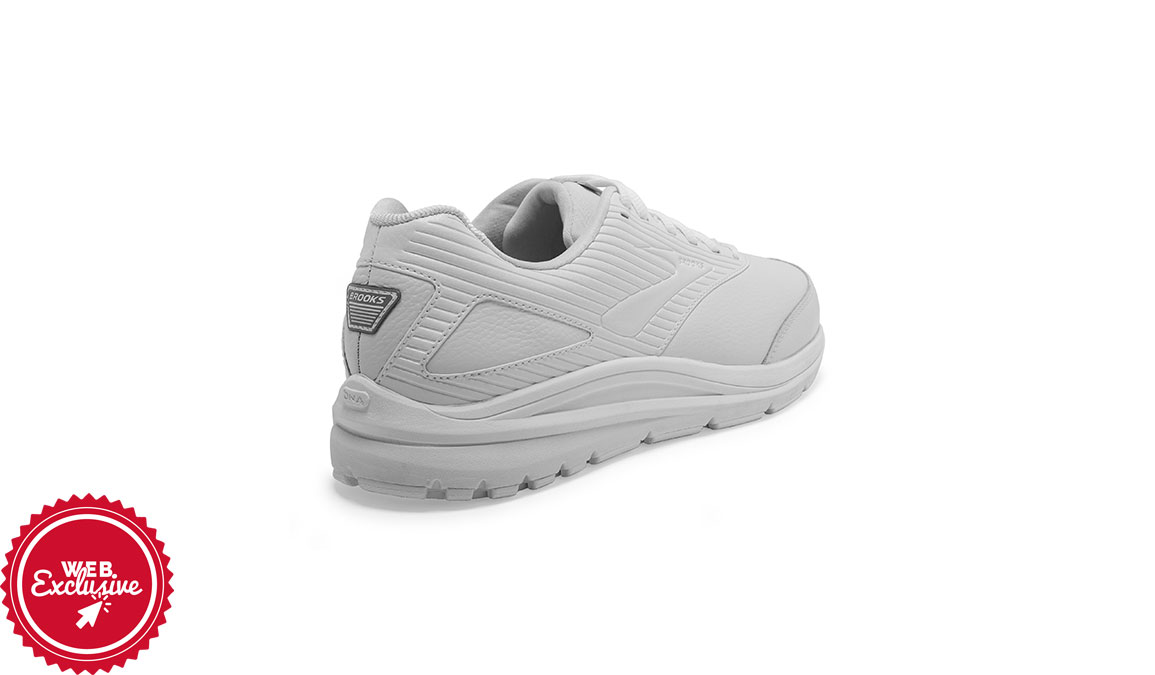 Men's Brooks Addiction Walker 2 - Color: White/White (Regular Width) - Size: 8.5, White/White, large, image 3