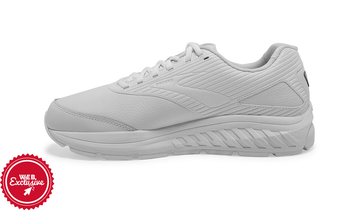 Men's Brooks Addiction Walker 2 - Color: White/White (Regular Width) - Size: 8.5, White/White, large, image 4